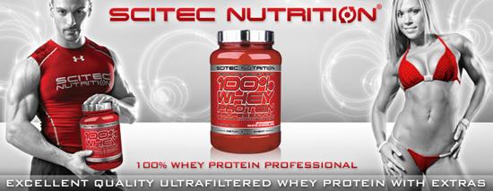100% Whey Protein Proffesional - Суроватъчен бленд от Scitec