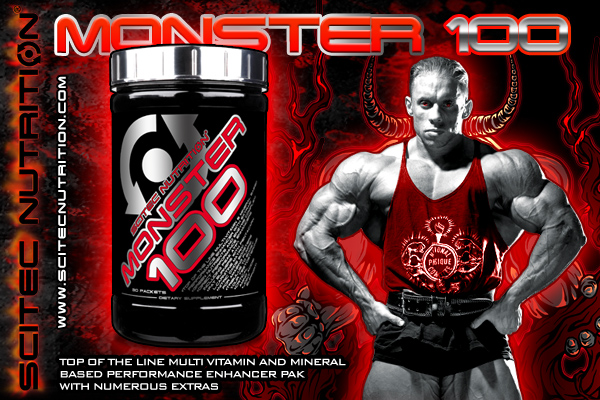 Monster 100 е супер потентна формула за спортисти от Scitec