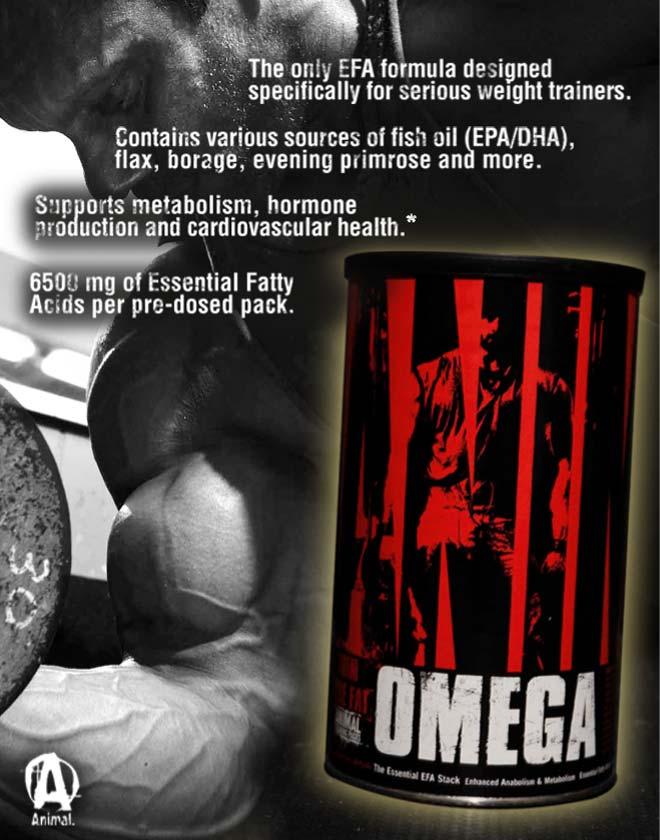 Animal Omega е формула с есенциални мастни киселини Omega 3 и Omega 6