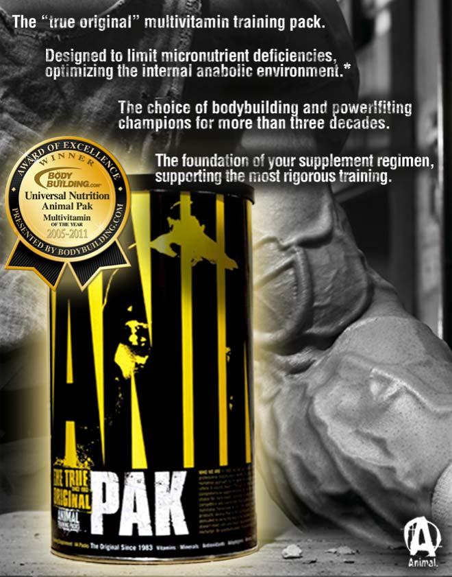 Animal Pak е един завършен продукт, който се е доказал в бодибилдинг средите!