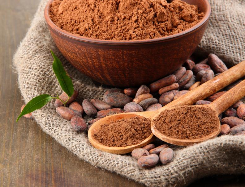 Какаото на прах е пълно с магнезий и антиоксиданти