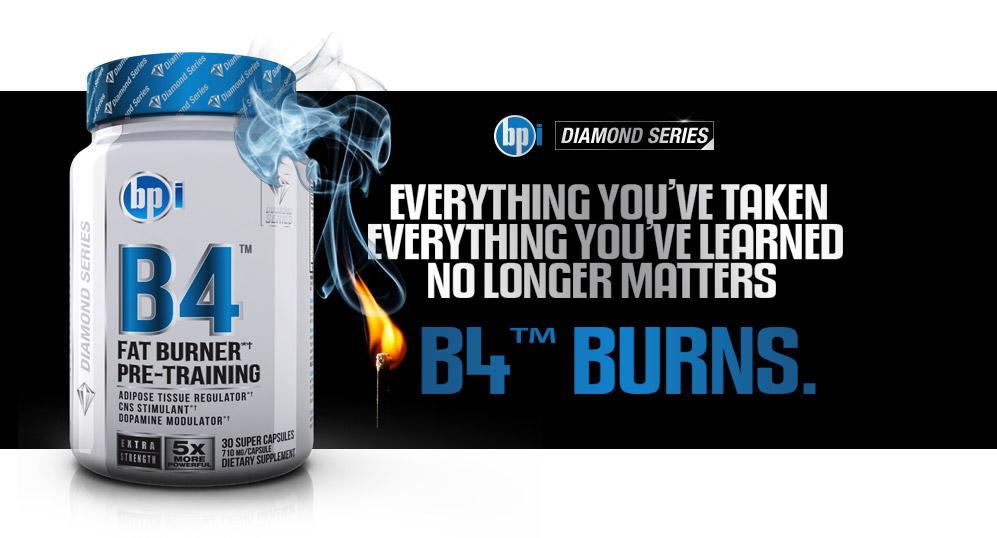 B4 е силен термогенен фетбърнър от BPI Sports