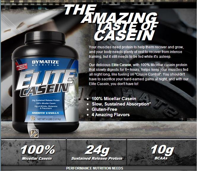 Elite Casein съдържа висококачествен мицеларен казеин