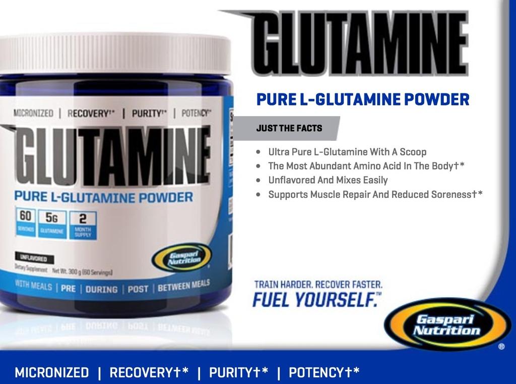 Glutamine от Gaspari с фармацевтично качество за максимално възстановяване