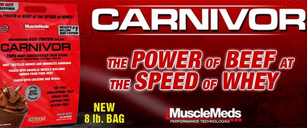 Телешкия изолат Carnivor в нова разфасовка от 8 lb. (3,6 кг.)