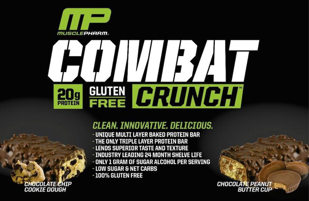 Combat Crunch Bar има два уникални вкуса и съдържа 20 гр. суроватъчен изолат