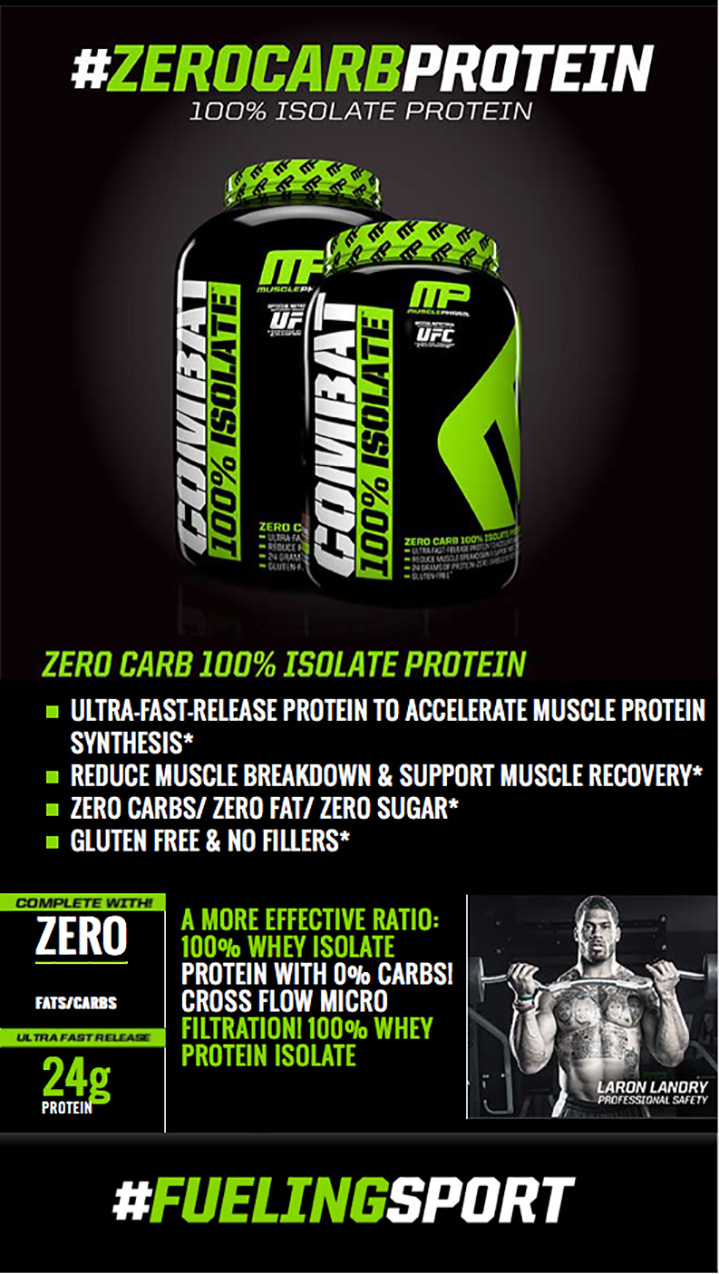 MusclePharm - Combat 100% Isolate e ултра чист суроватъчен изолат