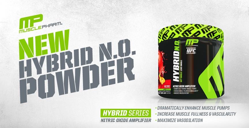 Уникално напомване с мощния азотен буустър на MusclePharm - Hybrid NO!