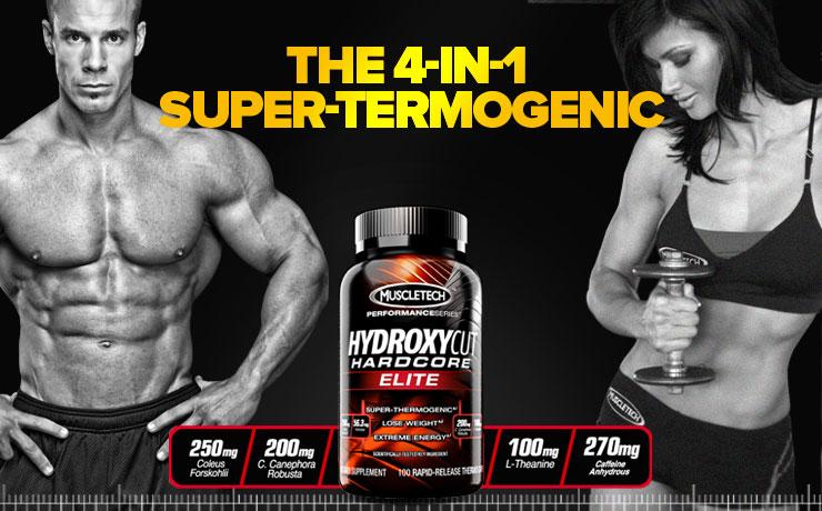 Hydroxycut Hardcore Elite  е термогенен феъ бърнър с 4 действащи съставки