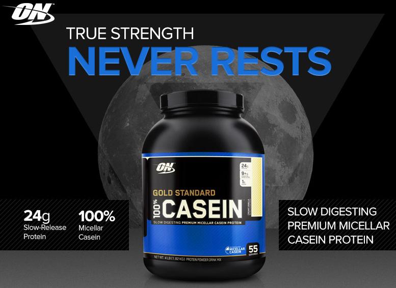 Бавноусвоим протеин - 100% CASEIN  от Optimum Nutrition