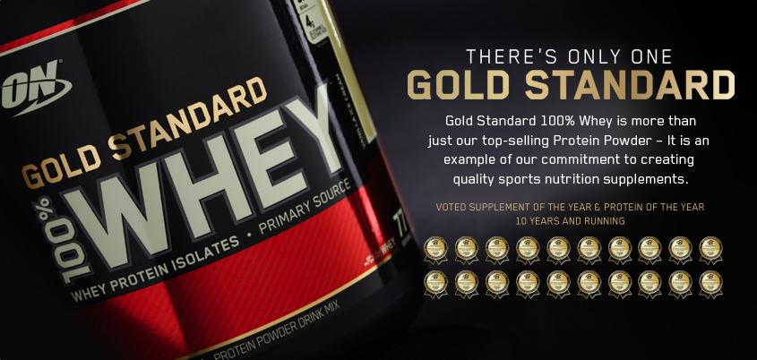 Най-продаваният протеин - 100% Whey Gold Standart от Optimum Nutrition
