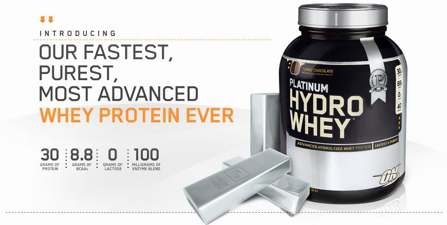 Най-бързият протеин на пазара - Optimum Nutrition - Hydro Whey!