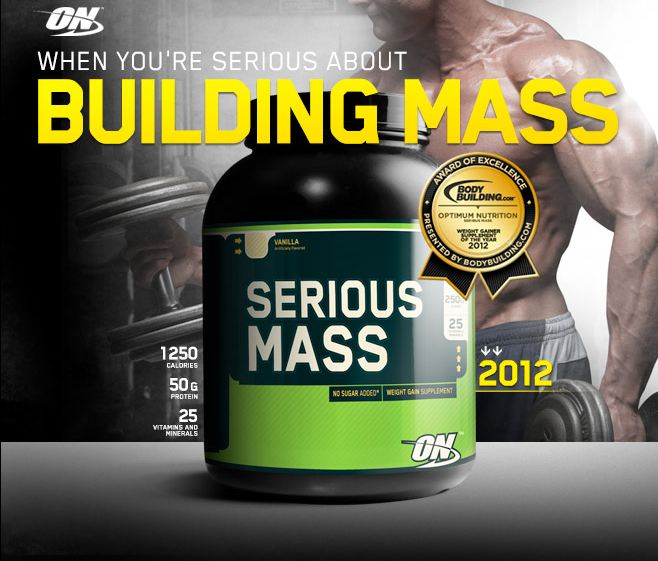 Serious Mass е топ гейнър от Optimum Nutrition!