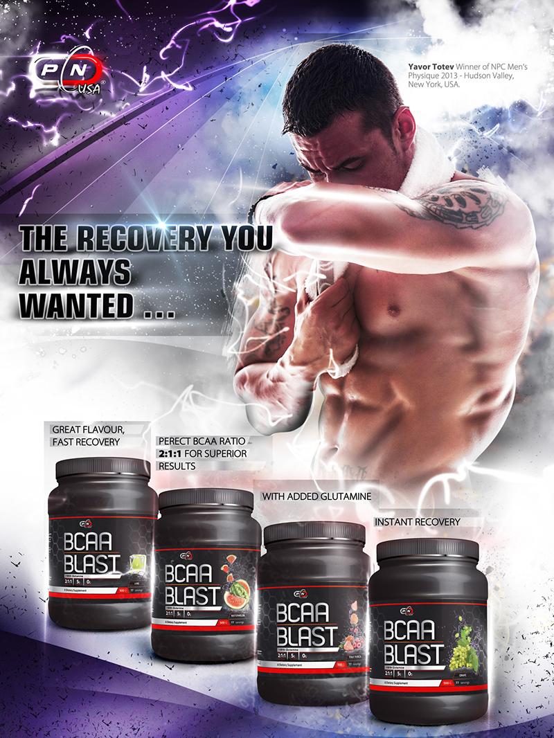 По-добро възстановяване с аминокиселини с разклонена верига BCAA Blast от Pure Nutrition