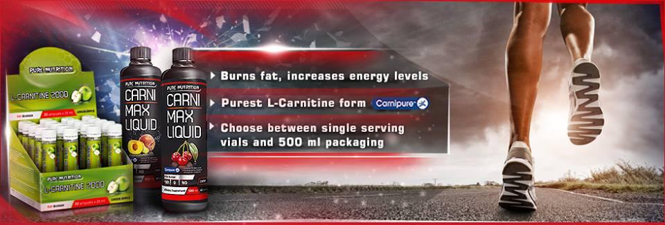 Течен Л-Карнитин на Pure Nutrition използва суровина Carnipure