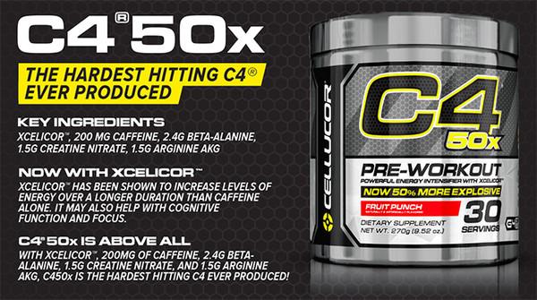 C4 50X - Нова формула на бестселърът на CELLUCOR